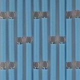Vliegengordijn op maat: hulzen turquoise verspringen_