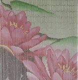 vliegengordijn bamboe bloemen roze