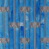Vliegengordijn op maat: hulzen blauw gevlekt verspringen_