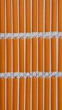 Vliegengordijn op maat: hulzen oranje_
