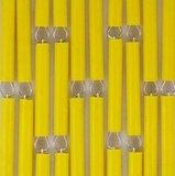 Vliegengordijn op maat: hulzen verspringen geel_