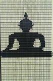 Vliegengordijn bouwpakket Boeddha zittend 90x210cm_