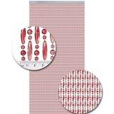 Vliegengordijn kralen rose transparant 90x210cm_
