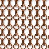 Vliegengordijn kettingen bruin glans 90x210 cm_