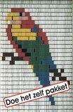 Vliegengordijn bouwpakket papegaai 100x240cm_
