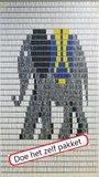 Vliegengordijn bouwpakket olifant 90x210cm_