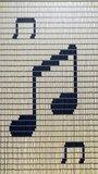 Vliegengordijn bouwpakket muzieknoten 90x210cm_