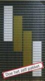 Vliegengordijn bouwpakket 4 blokken 90x210cm_