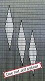 Vliegengordijn bouwpakket 3 ruiten wit 90x210cm_