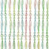 Vliegengordijn kralen recht multi color 90x210cm_