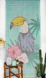 Bamboe vliegengordijn toekan 90x200cm_