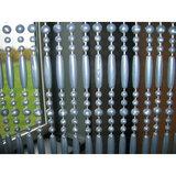 Vliegengordijn kralen perla grijs 90x220cm (90 strengen)_