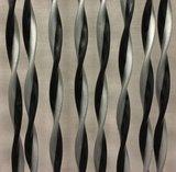 Vliegengordijn Opal 100x240cm (zilver-zwart)_