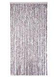 Vliegengordijn kattenstaart 90x220cm (bruin-grijs-wit)_