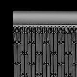 Vliegengordijn hulzen zilver 90x210cm_