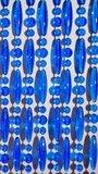 Vliegengordijn kralen transparant blauw 90x210cm (op bestelling)_