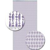 Vliegengordijn kralen paars transparant 90x210cm (op bestelling)_