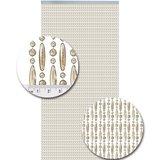 Vliegengordijn kralen champagne transparant 90x210cm (op bestelling)_