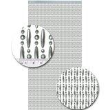 Vliegengordijn kralen zilver metallic 90x210cm (op bestelling)_