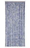 Vliegengordijn kattenstaart 100x230cm mét opbergtas (blauw/grijs/wit)_