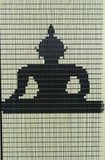 Vliegengordijn bouwpakket Boeddha zittend 100x240cm_