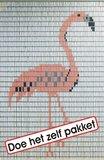 Vliegengordijn bouwpakket flamingo 90x210cm_