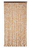 Vliegengordijn twisted plush bruin/wit 90x205cm_