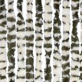 Vliegengordijn twisted plush groen/wit 90x205cm_