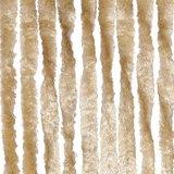 Vliegengordijn twisted plush wit/geel 90x205cm_