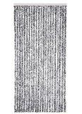 Vliegengordijn kattenstaart 90x220cm mét opbergtas (zwart/wit)_
