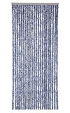 Vliegengordijn kattenstaart 90x220cm mét opbergtas (blauw/grijs/wit)_