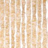 Vliegengordijn kattenstaart 100x230cm mét opbergtas (beige/wit)_