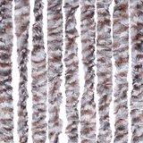 Vliegengordijn kattenstaart 90x220cm mét opbergtas (grijs/bruin/wit)_