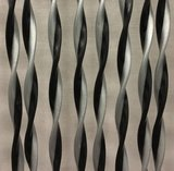 Vliegengordijn Opal 90x220cm (zilver-zwart)_