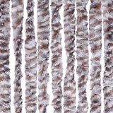 Vliegengordijn kattenstaart 100x230cm mét opbergtas (grijs/bruin/wit)_
