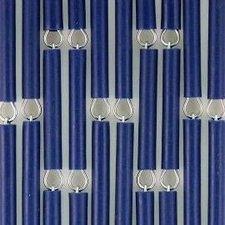 Vliegengordijn op maat: hulzen verspringen donkerblauw