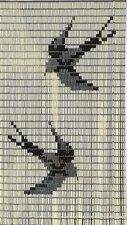 Vliegengordijn op maat: vogels creme