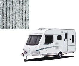 Vliegengordijn caravan grijs/wit 56x185cm met tas