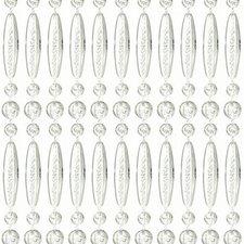 Vliegengordijn kralen recht transparant 90x210cm