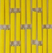 Vliegengordijn op maat: hulzen geel verspringen