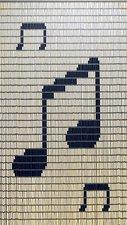 Vliegengordijn bouwpakket muzieknoten 90x210cm