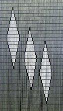 Vliegengordijn op maat: 3 ruiten wit