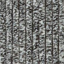 Vliegengordijn kattenstaart 100x240cm mét opbergtas (zwart/wit)