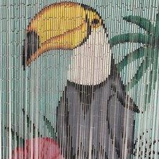 Bamboe vliegengordijn toekan 90x200cm