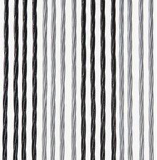 Vliegengordijn Victoria 90x220cm (zilver-zwart)