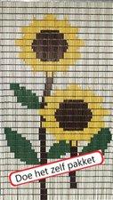 Vliegengordijn bouwpakket zonnebloemen 90x210cm