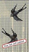 Vliegengordijn bouwpakket vogels creme 90x210cm