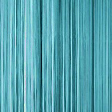 Draadjesgordijn turquoise 100x250cm