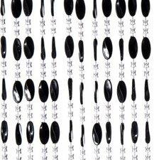 Kralengordijn Charlotte 90x220cm zwart (79 strengen)