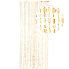 Kralengordijn pailletten oranje-geel 90x200cm (49 strengen)